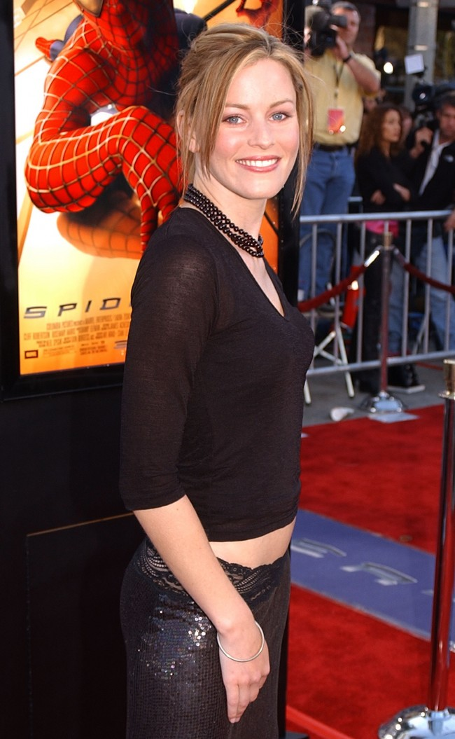Actress Elizabeth Banks attends the premiere of 'Spider-Man' April 29, 2002 in Westwood, CA.