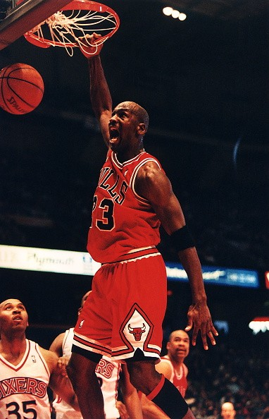 Michael Jordan playing for Chicago Bulls