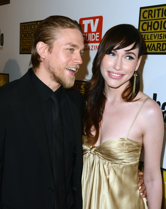 BEVERLY HILLS, CA - JUNE 18: Actor Charlie Hunnam and guest arrive at Broadcast Television Journalists Association Second Annual Critics' Choice Awards at The Beverly Hilton Hotel on June 18, 2012 in Beverly Hills, California.