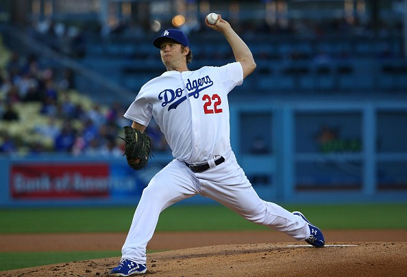 Pitcher Clayton Kershaw #22 of the Los Angeles Dodgers pitches in the first inning during the MLB game against the Colorado Rockies at Dodger Stadium on May 15, 2015 in Los Angeles, California. Kershaw earned his 100th career victory with the win. The Dodgers defeated the Rockies 6-4.