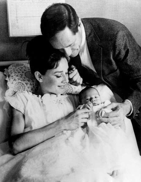 Audrey Hepburn, with her husband Mel Ferrer and her new born son - Sean Ferrer