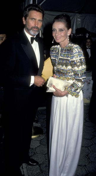 Audrey Hepburn and Rob Wolders during Fim Society of Lincoln Center Honors Audrey Hepburn at Avery Fisher Hall in New York City, NY, United States.