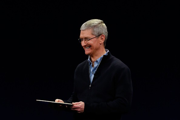 Apple CEO Tim Cook debuts the new MacBook during an Apple special event at the Yerba Buena Center for the Arts on March 9, 2015 in San Francisco, California. Apple Inc. is expected to unveil more details on the much anticipated Apple Watch, the tech giant's entry into the rapidly growing wearable technology segment.