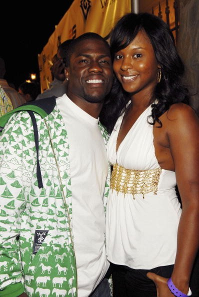 Actor Kevin Hart and his wife Torrie Hart attend the Ne-yo Pre-BET Awards Party at the Day After Club on June 25, 2006 in Los Angeles, California.