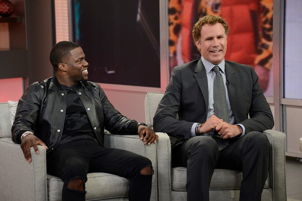 Kevin Hart and Will Ferrell takeover GOOD MORNING AMERICA, 3/18/15, airing on the ABC Television Network.