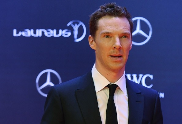 British actor Benedict Cumberbatch poses on the red carpet as he arrives ahead of the Laureus World Sports Award ceremony at the Grand Theater in Shanghai on April 15, 2015. The holding of the awards ceremony in the commercial hub of Shanghai comes as Beijing bids for the 2022 Winter Olympics, amid rumors that China could even seek to host the 2026 football World Cup.