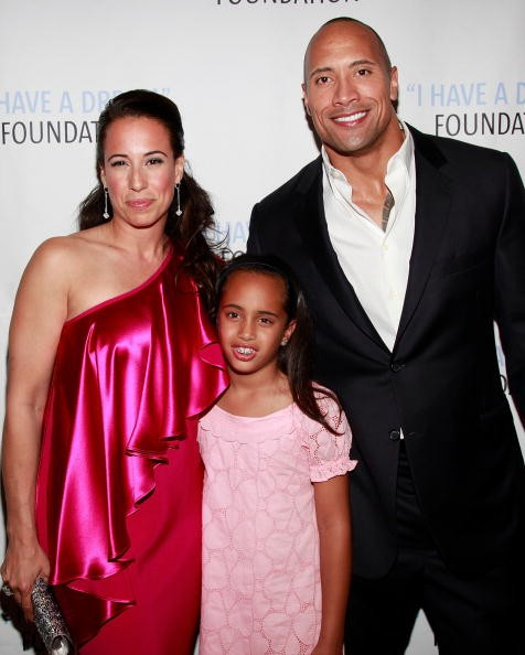 Dany Garcia, daughter Simone Alexander and ex-husband, actor Dwayne 'The Rock' Johnson attend the 2009 I Have A Dream Foundation Spring Gala at 583 Park Avenue on June 11, 2009 in New York City.