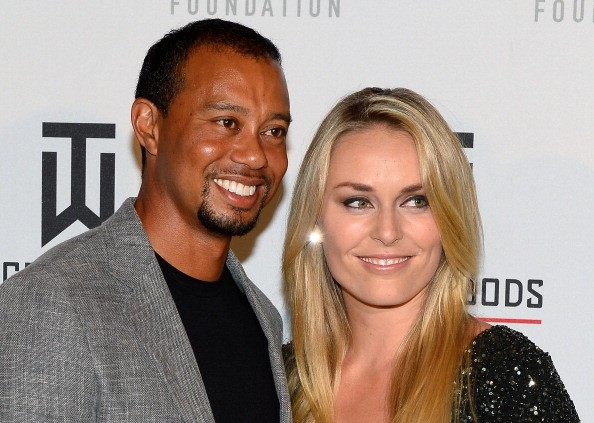 Golfer Tiger Woods (L) and ski racer Lindsey Vonn attend Tiger Jam 2014 at the Mandalay Bay Events Center on May 17, 2014 in Las Vegas, Nevada.