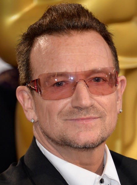 Caption:HOLLYWOOD, CA - MARCH 02: Singer Bono of U2 attends the Oscars held at Hollywood & Highland Center on March 2, 2014 in Hollywood, California. (Photo by Michael Buckner/Getty Images)