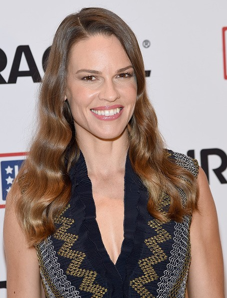 aption:NEW YORK, NY - JULY 02: Hillary Swank attends the USO's 'Comfort Crew For Military Kids' Event at Times Center on July 2, 2015 in New York City. (Photo by Jamie McCarthy/Getty Images)