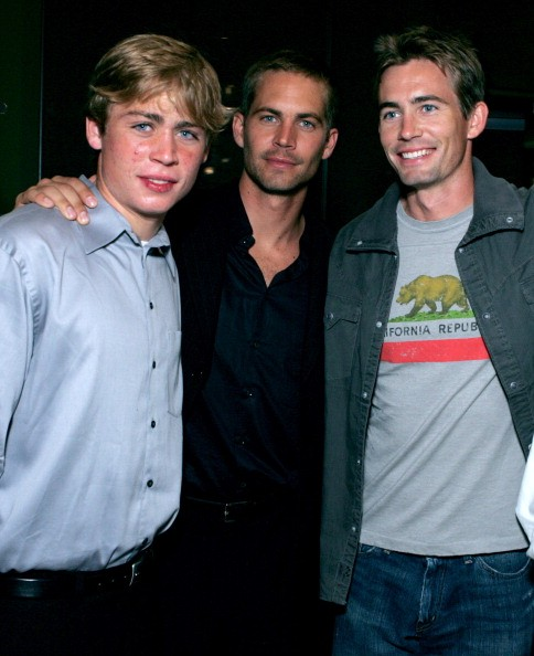 Cody Walker, Paul Walker and Caleb Walker during MGM Pictures and Columbia Pictures 'Into the Blue' Premiere - After Party at Napa Valley Grill in Westwood, California, United States.
