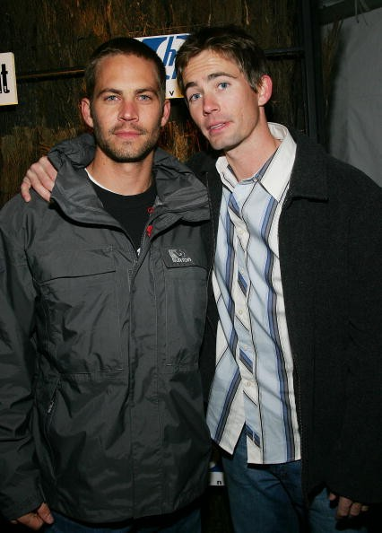 Actor Paul Walker and brother Caleb Walker attend Entertainment Weekly?s Winter Wonderland Sundance Bash at the Shop during the 2005 Sundance Film Festival on January 22, 2005 in Park City, Utah.