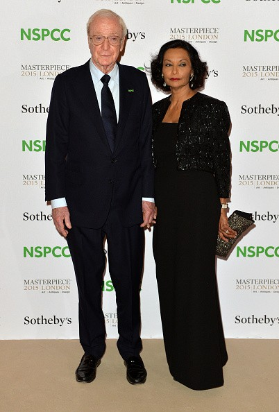Sir Michael Caine and Shakira Caine attend the NSPCC Neo-Romantic Art Gala at Masterpiece London on June 30, 2015 in London, England.