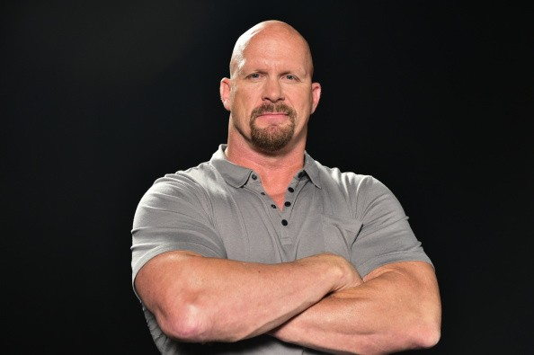 Caption:ATLANTA, GA - SEPTEMBER 18: Former WWE Wrestler Stone Cold Steve Austin shooting a Wndy's Commerical at PC&E Studio on September 18, 2014 in Atlanta, Georgia. (Photo by Moses Robinson/Getty Images for Wendy's)