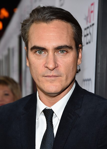 Caption:HOLLYWOOD, CA - NOVEMBER 08: Actor Joaquin Phoenix attends the screening of 'Inherent Vice' during AFI FEST 2014 presented by Audi at the Egyptian Theatre on November 8, 2014 in Hollywood, California. (Photo by Alberto E. Rodriguez/Getty Images for AFI)