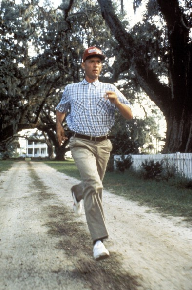 Actor Tom Hanks in the movie 'Forrest Gump' by Robert Zemeckisin 1994