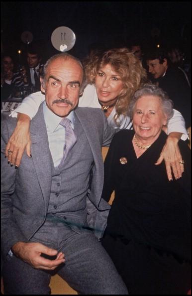 Sean Connery, his wife Micheline and his mother (?) at the Jamais Plus Jamais premiere, Monaco, 1983.