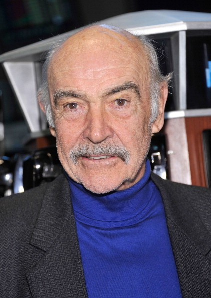 Actor Sir Sean Connery poses for pictures after ringing the opening bell at New York Stock Exchange on May 17, 2012 in New York City.