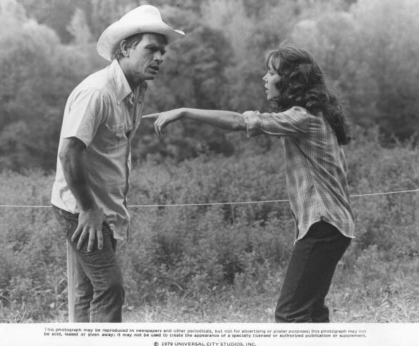 Tommy Lee Jones and Sissy Spacek in the film 'Coal Miner's Daughter'.