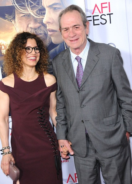Actor Tommy Lee Jones (R) and wife Dawn Laurel Jones arrive at The Homesman' premiere during AFI FEST 2014 Presented By Audi held at Dolby Theatre on November 11, 2014 in Hollywood, California.