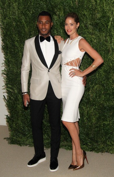 Sunnery James and model Doutzen Kroes attend CFDA and Vogue 2013 Fashion Fund Finalists Celebration at Spring Studios on November 11, 2013 in New York City.