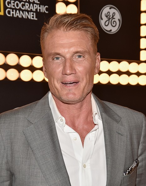 Actor Dolph Lundgren attends National Geographic Channel's 'Breakthrough' world premiere event at The Pacific Design Center on October 26, 2015 in West Hollywood, California.
