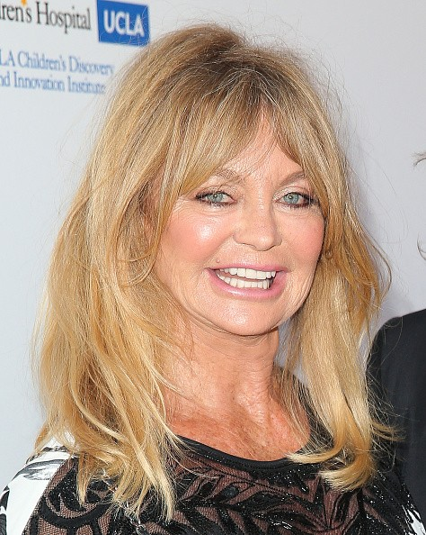 Caption:CULVER CITY, CA - MAY 02: Actress Goldie Hawn attends the Mattel Children's Hospital UCLA Kaleidoscope Ball at 3LABS on May 2, 2015 in Culver City, California. (Photo by Imeh Akpanudosen/Getty Images)