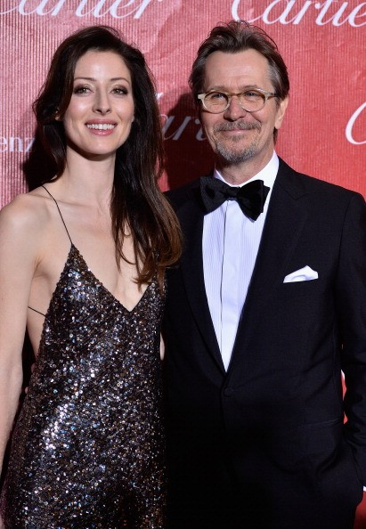 Alexandra Edenborough and actor Gary Oldman arrive at the 25th Annual Palm Springs International Film Festival Awards Gala - Arrivals at Palm Springs Convention Center on January 4, 2014 in Palm Springs, California.