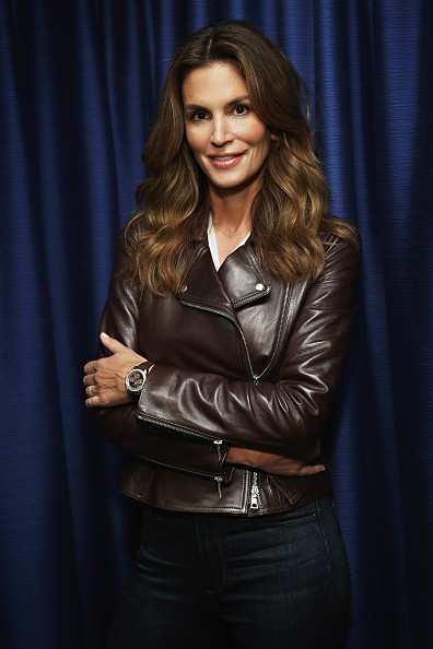 Caption:NEW YORK, NY - SEPTEMBER 28: Cindy Crawford appears on 'SiriusXM Leading Ladies' series hosted By Jenny Hutt on September 28, 2015 in New York City. (Photo by Cindy Ord/Getty Images)