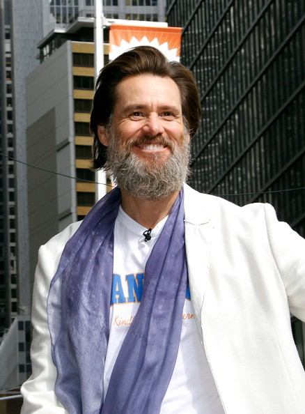 Jim Carrey arrives for the final episode of 'The Late Show with David Letterman' at the Ed Sullivan Theater on May 20, 2015 in New York City.