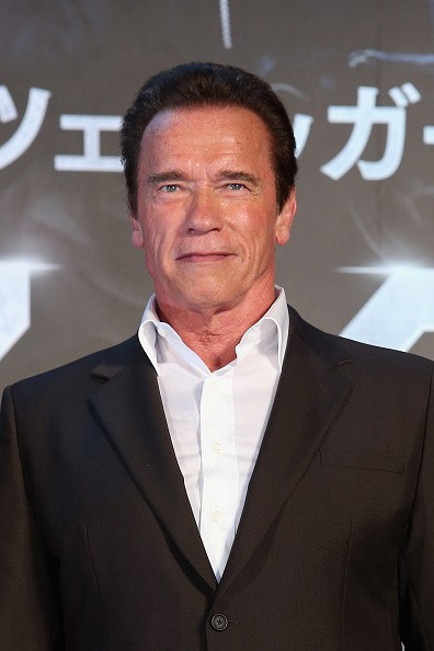 Caption:TOKYO, JAPAN - JULY 06: Arnold Schwarzenegger attends the Tokyo Premiere of 'Terminator Genisys' at the Roppongi Hills Arena on July 6, 2015 in Tokyo, Japan. (Photo by Ken Ishii/Getty Images for Paramount Pictures International)