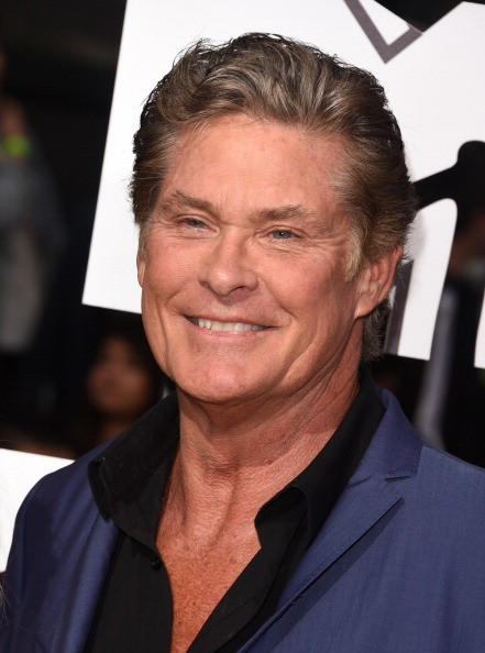 Actor David Hasselhoff attends the 2014 MTV Movie Awards at Nokia Theatre L.A. Live on April 13, 2014 in Los Angeles, California.
