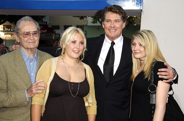 David Hasselhoff, Father, and Daughters during 'Click' Los Angeles Premiere - Arrivals at Mann Village Theatre in Westwood, California, United States.