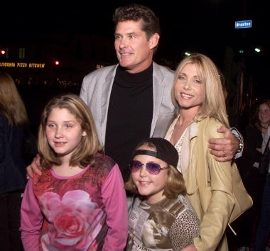 David and Pam Haselhoff and their daughters Haley Amber and Taylor Ann at the premiere of 'Harry Potter and the Sorcerer's Stone' in Los Angeles, Ca. Wednesday, November 14, 2001.