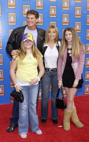 Actor David Hasselhoff and family attend the 2004 NBA All-Star Game held on February 15, 2004 at the Staples Center, in Los Angeles, California.