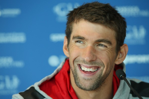 Michael Phelps speaks to media during the Team USA squad press conference at the Gold Coast Aquatics Centre on August 20, 2014 in Gold Coast, Australia.