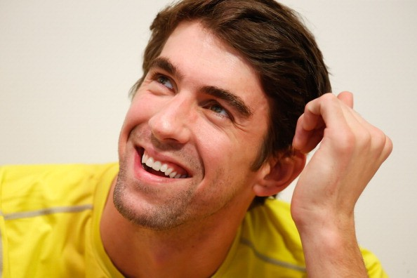 Olympic swimmer Michael Phelps attends a Subway press conference to promote healthy living and lifestyle among childrenon December 04, 2013 in Sao Paulo, Brazil.