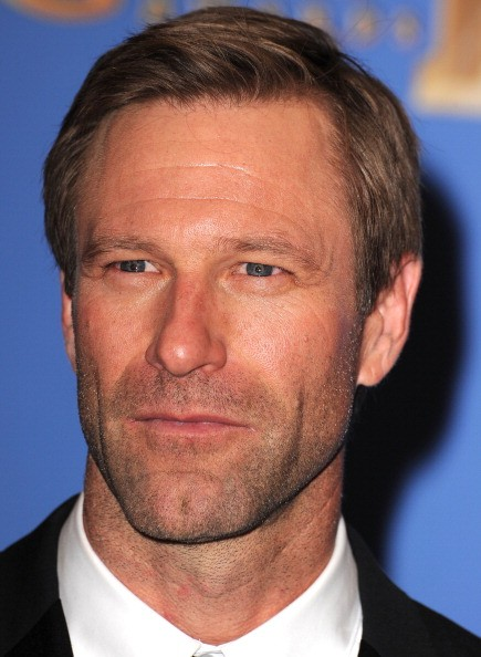 Aaron Eckhart poses at the 71st Annual Golden Globe Awards at The Beverly Hilton Hotel on January 12, 2014 in Beverly Hills, California.