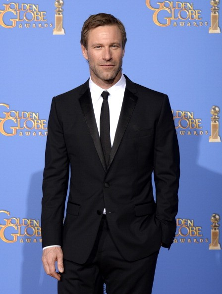 Actor Aaron Eckhart poses the press room at the 71st Annual Golden Globe Awards held at the Beverly Hilton Hotel on January 12, 2014 -