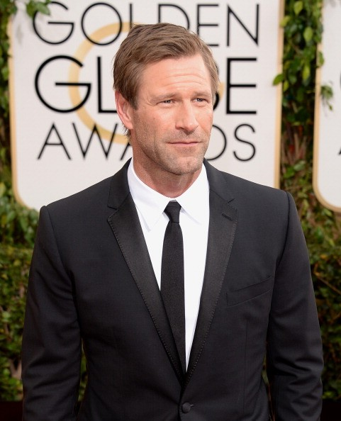 Actor Aaron Eckhart attends the 71st Annual Golden Globe Awards held at The Beverly Hilton Hotel on January 12, 2014 in Beverly Hills, California.