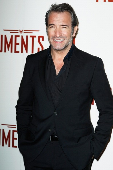 Jean Dujardin attends 'Monuments Men' Paris premiere at Cinema UGC Normandie on February 12, 2014 in Paris, France.