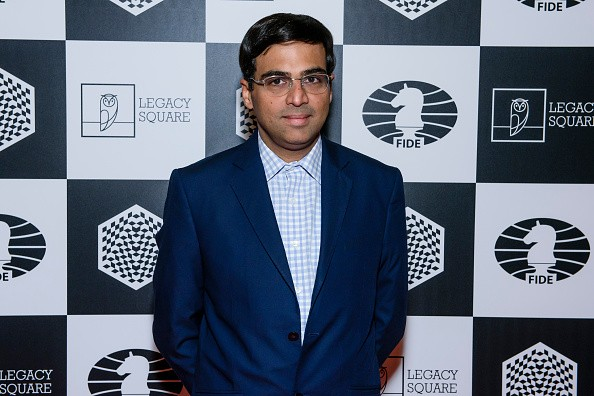 Viswanathan Anand attends the opening ceremony of the World Rapid and Blitz Chess Championship and the special screening of 'Pawn Sacrifice' (german title: Bauernopfer - Spiel der Koenige) at Kino International on October 9, 2015 in Berlin, Germany.