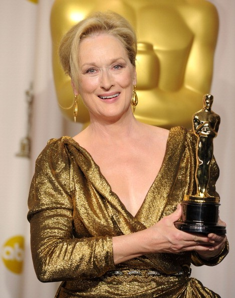 Actress Meryl Streep, winner of the Best Actress Award for 'The Iron Lady,' poses in the press room at the 84th Annual Academy Awards held at the Hollywood & Highland Center on February 26, 2012 in Hollywood, California. (Photo by )