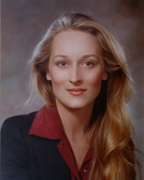 Studio portrait of American actress Meryl Streep (born Mary Louise Streep), late 1970s or early 1980s.