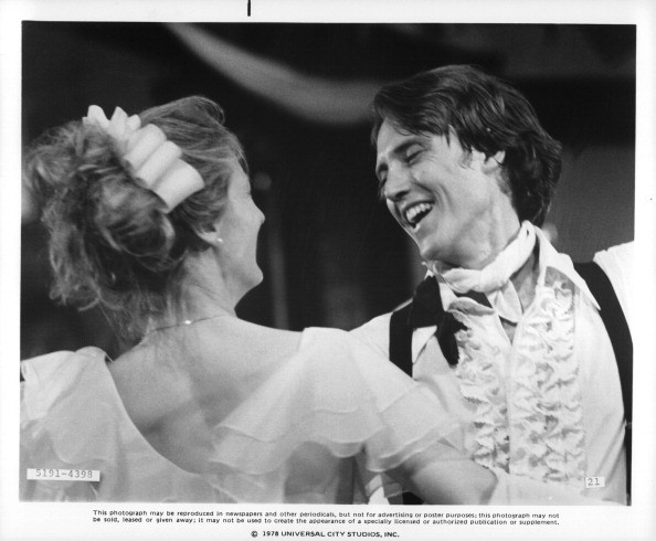 Meryl Streep and Christopher Walken dance at a wedding reception in a scene from the film 'The Deer Hunter', 1978.