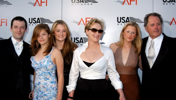 Meryl Streep, Don Gummer and family during USA Network Presents 2004 AFI Lifetime Achievement Award - A Tribute to Meryl Streep - Arrivals at The Kodak Theater in Hollywood, California, United States.
