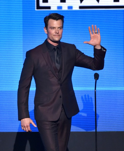 Caption:LOS ANGELES, CA - NOVEMBER 23: Actor Josh Duhamel speaks onstage at the 2014 American Music Awards at Nokia Theatre L.A. Live on November 23, 2014 in Los Angeles, California. (Photo by Kevin Winter/Getty Images)