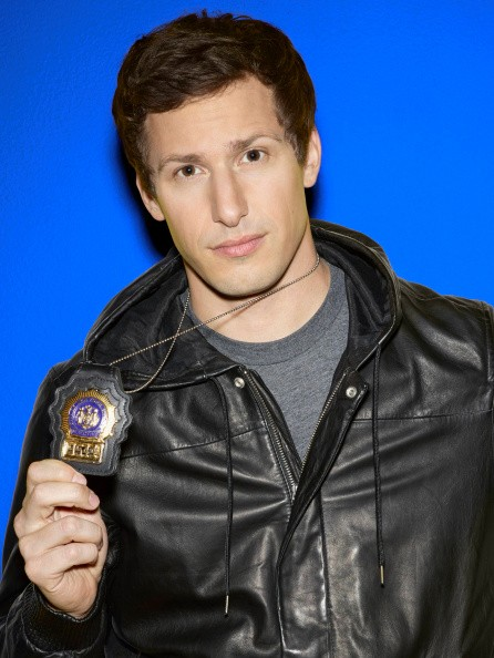 Caption:BROOKLYN NINE-NINE -- Season: 2 -- Pictured: Andy Samberg as Detective Jake Peralta -- (Photo by: Scott Schafer/NBC/NBCU Photo Bank via Getty Images)