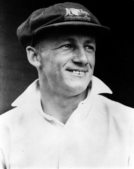 A picture of Don Bradman, the legendary Australian cricketer, regarded as possibly the greatest batsman that ever lived.