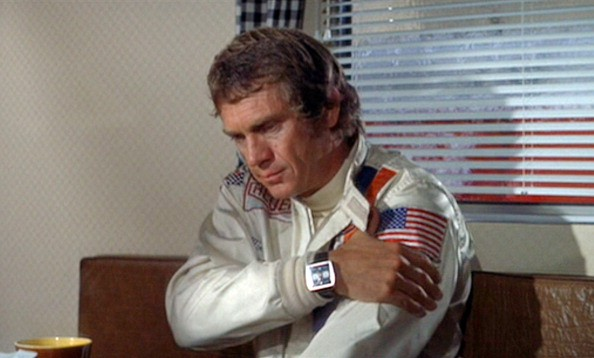 Steve McQueen as race car driver Michael Delaney in the movie, 'Le Mans'. Original theatrical release June 23, 1971. Image is a screen grab.